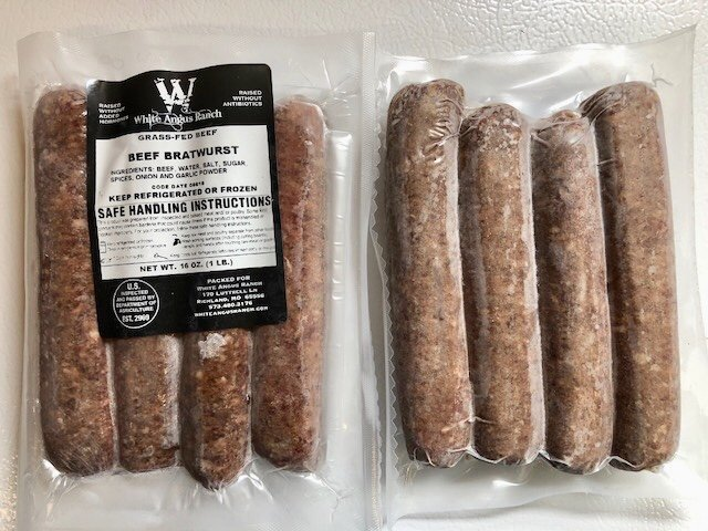 Grass Fed Beef Brats White Angus Ranch