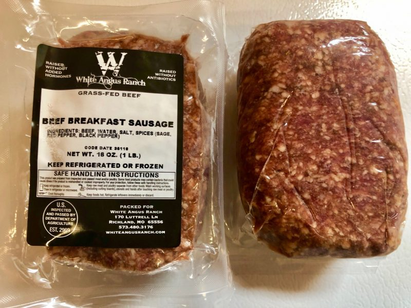 White Angus Ranch Beef Breakfast Sausage