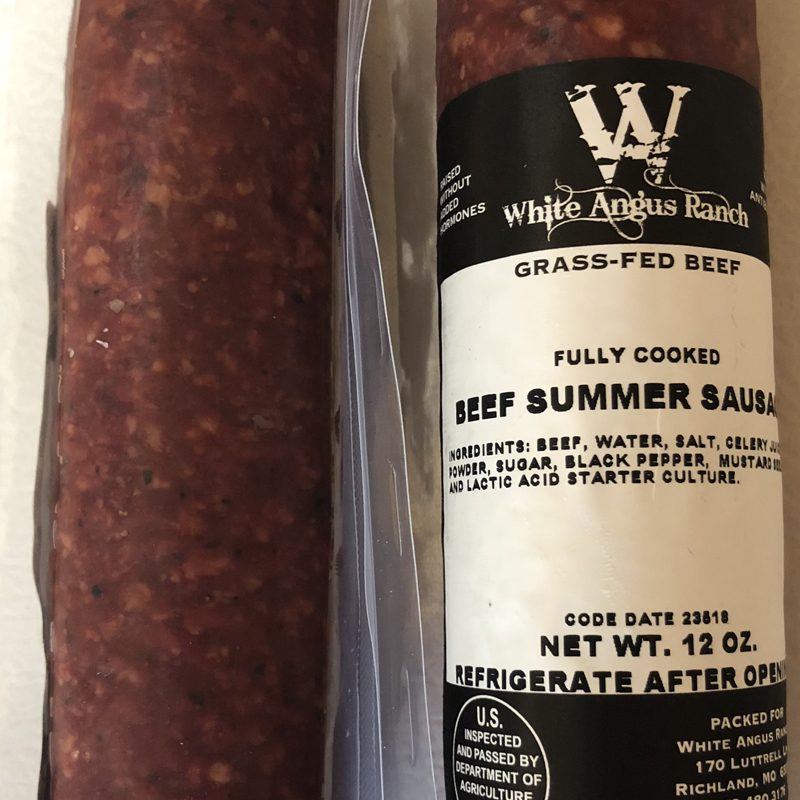 Grass Fed Beef Summer Sausage White Angus Ranch