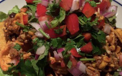Beefy Black Bean & Corn Taco Salad